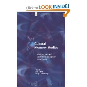 Cultural Memory Studies An International and Interdisciplinary