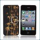 Art Design Bamboo Style Hard Plastic Skin Case Cover for iPhone 4 4G