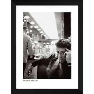 Dennis Stock FRAMED Art 28x36 James Dean (Smoking)