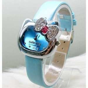 Beautiful Blue Diamond Crystal Hello Kitty Head Shape
