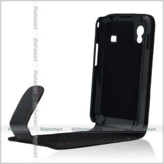 New Black Flip Leather Case Cover Pouch for Samsung Galaxy Ace S5830