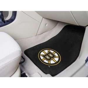 BSS   Boston Bruins NHL 2 Piece Printed Carpet Car Mats