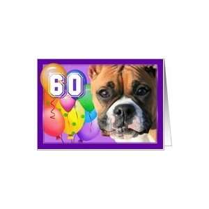 Happy 60th Birthday Boxer Dog Card: Toys & Games