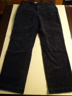 POLO RALPH LAUREN Navy Blue Corduroy Pants, 100% Cotton, 38/34