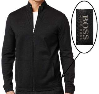 Hugo Boss Black Sweatshirt Long Sleeve Full Zip Reversible Jerseyr in