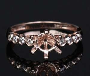 Cut 14K ROSE GOLD Bezel DIAMOND SEMI MOUNT Engagement RING Settings