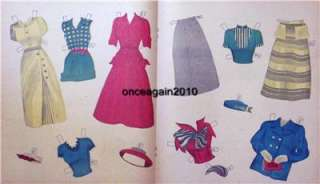 VINTAGE 1940s PROM DATE PAPER DOLLS~12 PAGES CLOTHES~#1 REPRO~FREE