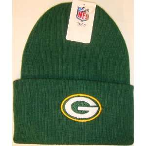 Green Bay Packers NFL Long Beanie Knit Cap Caps Hat Hats Reebok Team