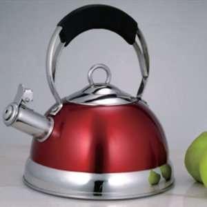 Creative Home Jupiter 2.6 qt. Whistling Stainless Steel Tea Kettle in