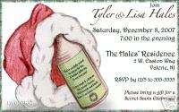 Custom Christmas Holiday Santa Hat Party Invitations