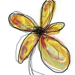 Jan Weiss Liquid Flower I Canvas Art