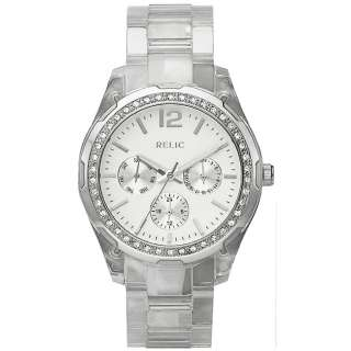 Relic by Fossil Womens Starla Multifunction Clear Resin Watch