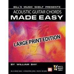 Mel Bay Acoustic Guitar Chords Made Easy, Large Print Edition