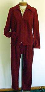 Piece Weekenders Burnt Orange Suit Size M
