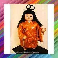 Antique japanese ichimatsu gofun doll horse hair 10h