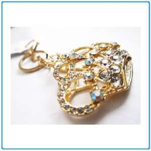1x Crystal Rhinestone Clear Crown Keychain/Necklace/Purse