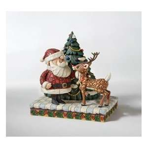 Jim Shore, Rudolph and Santa Figure Home & Kitchen
