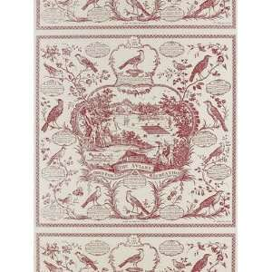 Schumacher Sch 203973 The Aviary   Red Wallpaper