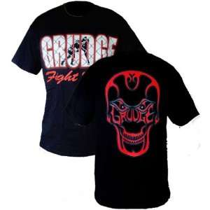 Grudge Fight Wear Skull Black T Shirt (Size=2XL): Sports