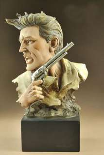 Resin Western Cowboy Bust Statue Figure 8.5High B