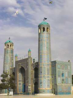 White Pigeons Fly Around the Shrine of Hazrat Ali, Mazar I Sharif