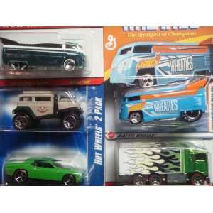 Way Hauler Green Flames Red Line #2 {5 Pieces} Scale 1/64 Collectors
