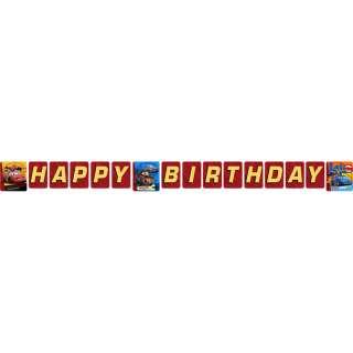 Disney Pixar Cars 2 Happy Birthday Plastic Banner