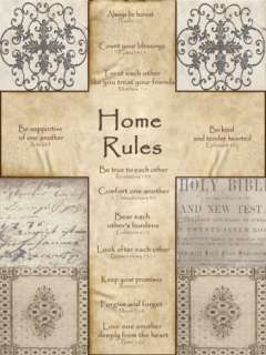 Home Rules Cross Prints by Lisa Wolk at AllPosters