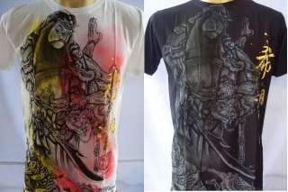 Emperor Eternity Guan Yu Chinese God Tattoo T shirt M L