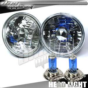 H4 HID BULBS CONVERSION ROUND DIAMOND HEADLIGHT KIT
