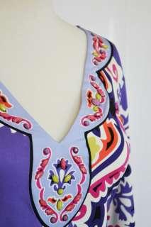 Jersey Dress S 4 6 UK 8 10 NWT $356 Moscow Nights Purple Beaded
