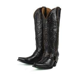 Lane Boots Womens Black Stud Rocker Cowboy Boots