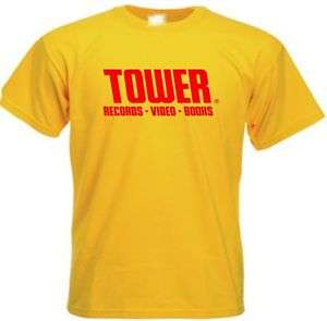 Tower Records T Tee Shirt Retro NEW
