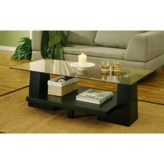 Hokku Designs Horizon Coffee Table in Black Furniture