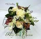 Roses & Calla Lily Silk Flower Floral Arrangement / Centerpiece