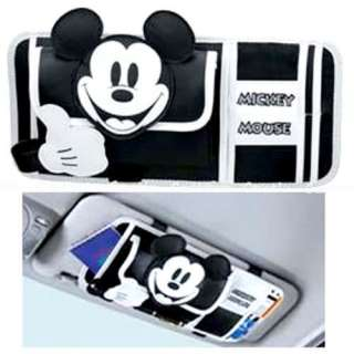 Mickey Mouse Car Sunshade Cover Sun Visor CD Holder