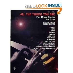 12 Jazz Classics for Piano (9780769294322) Schultz, Robert Books