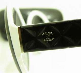 Chanel 5120 900 11 5620 135 Black White CC Logo Sunglasses