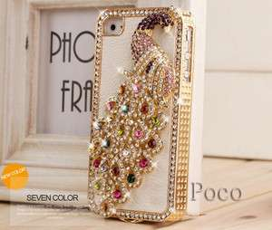 luxury Designer For iPhone 4 4S Bling diamond cases peafowl cover Hot