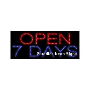Open 7 Days LED Sign 11 x 27