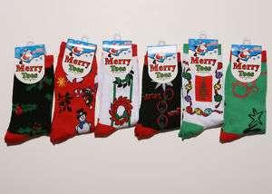 Pairs Womens Christmas Xmas Holiday Print Socks S2