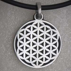 Flower of life CROP CIRCLES Silver Pewter Pendant