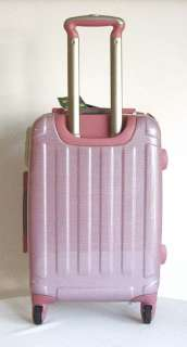 3Piece Luggage Set Hard Rolling 4 Wheels Spinner Pink