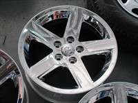 This is a clean used set of factory Chrome Clad 20 wheels removed from