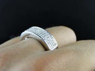 MENS/LADIES STERLING SILVER .925 PAVE WEDDING BAND RING