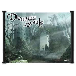 Demons Souls Game Fabric Wall Scroll Poster (21x16