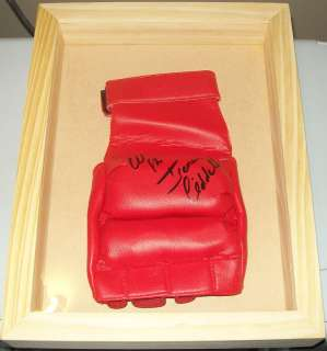 AUTOGRAPH UFC CHUCK LIDDELL ICEMAN SIGNED GLOVE IN SHADOW BOX COA