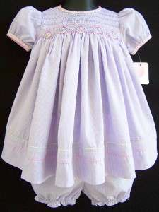 Baby Girls LOVELY LILAC Size 6M PETIT AMI Smocked Dress Clothes NWT
