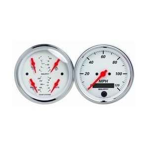 Auto Meter 1308 3 3/8IN A/W QUAD GAUGE/ Automotive