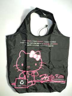 Sanrio Hello Kitty Foldable shopping bag (Black)